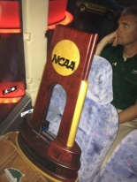 Stevie U first National Championship trophy
